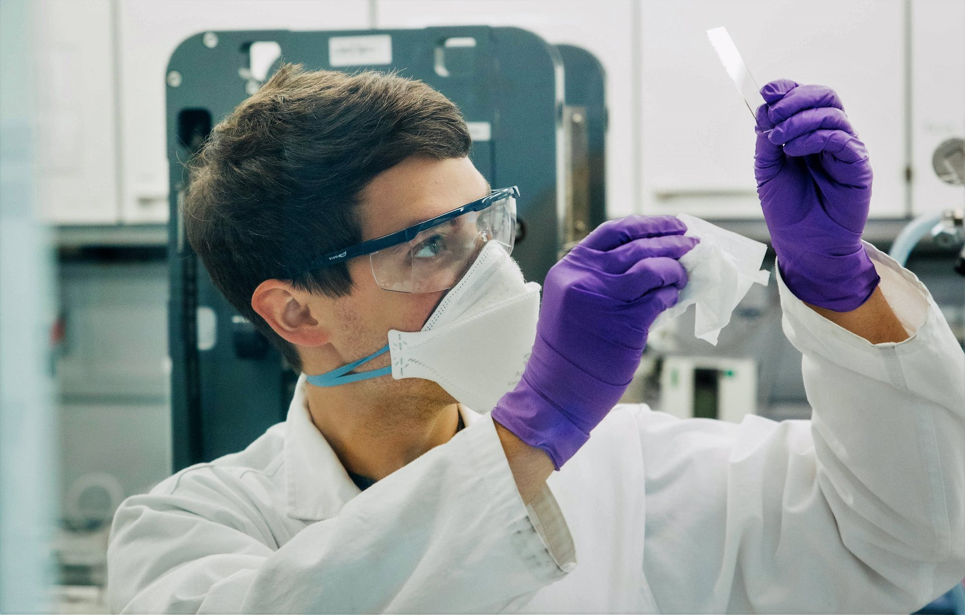 Working in Laboratory