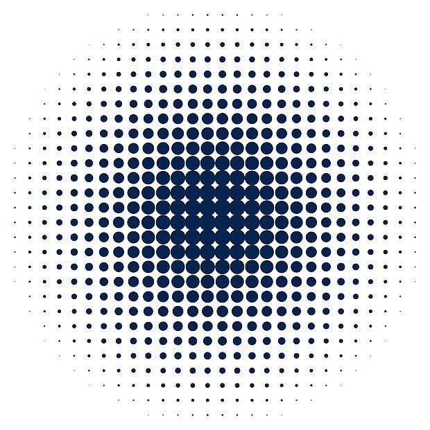 Kreis blau